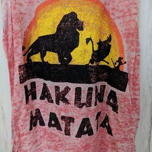 Disney Tops - Disney Hakuna Matata Burnout Tank Top